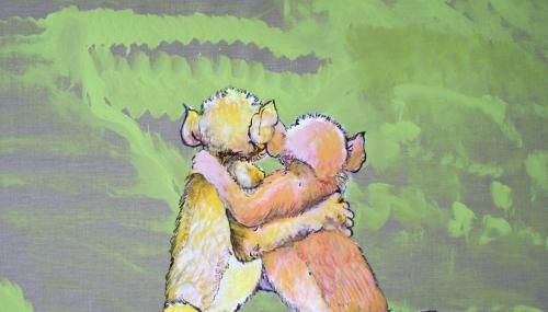 Arunachala (Abrazamonos), acrylic on canvas, 210x300cm, 2017