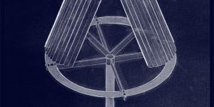 graphisme: Thomas Perrodin à partir d'un dessin Dennis Oppenheim, Launching strcuture Project for Geneva, 1981